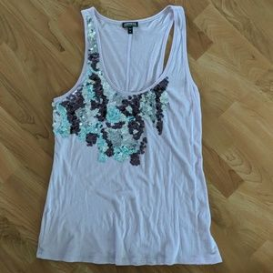 Express Lavender sequin tank top